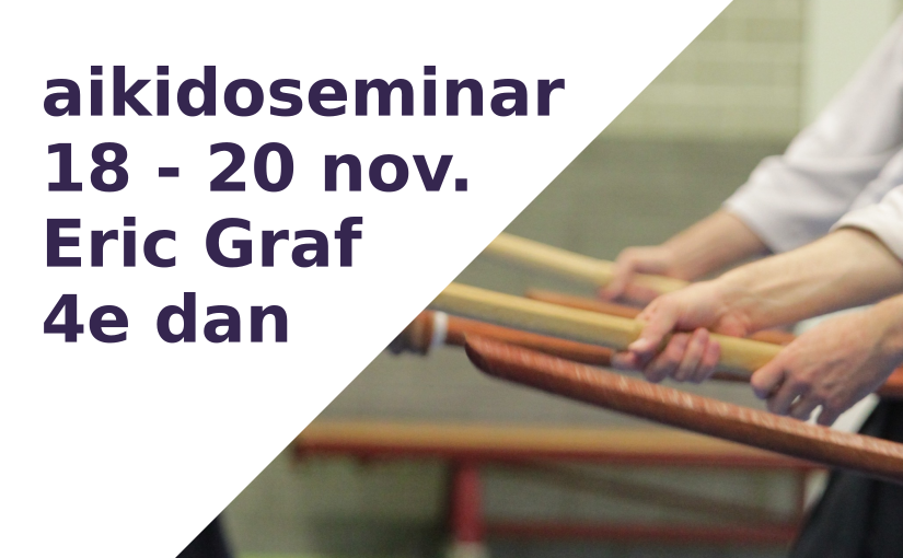 Seminar Eric Graf, 18-20 november