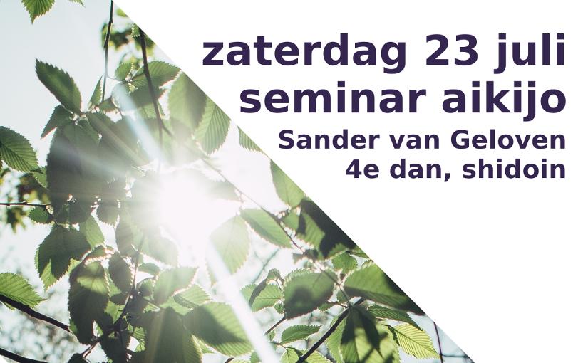Seminar aikijo Sander, 23 juli